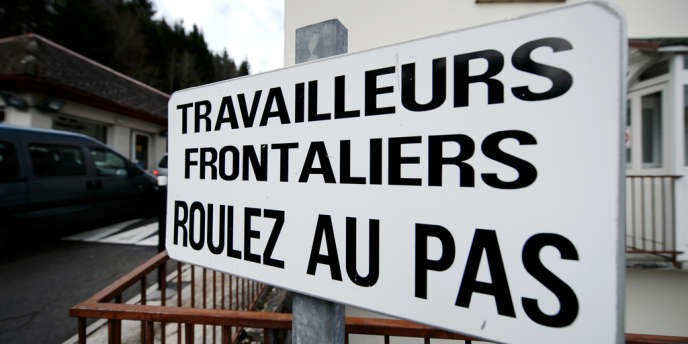 A la frontière franco-suisse, à Vallorbe.
