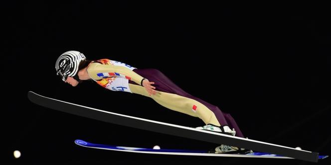 La Française Coline Mattel a pris la première médaille de bronze olympique de l'histoire du saut à skis.