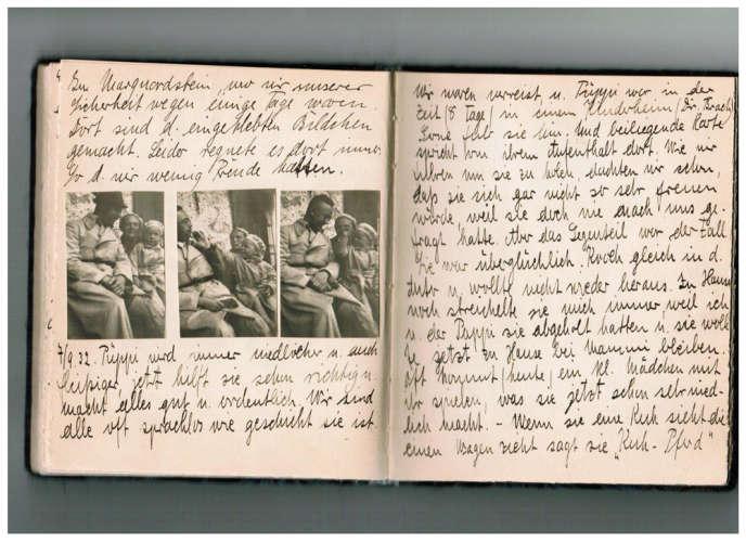 Le journal d'enfance dans lequel Marga Himmler realtait l'évolution de Gudrun. Le 7 septembre 1932, elle écrivait :