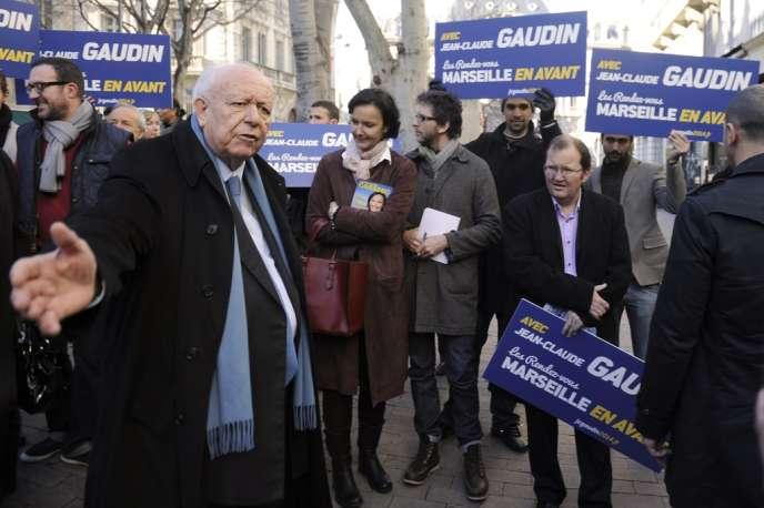 Jean-Claude Gaudin, à Marseille le 1er février 2014.