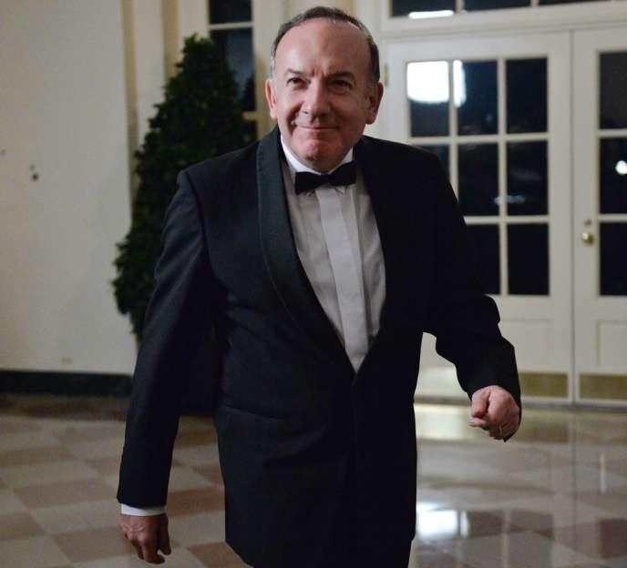 Pierre Gattaz à la Maison Blanche pour le dîner d'Etat en l'honneur de François Hollande, le 11 février.