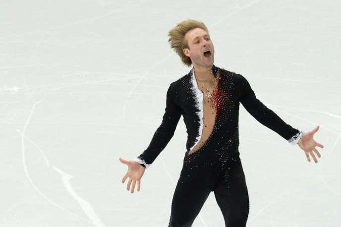 Evgeni Plushenko a offert sa première médaille d'or à la Russie, le 9 février, dans l'épreuve par équipes.