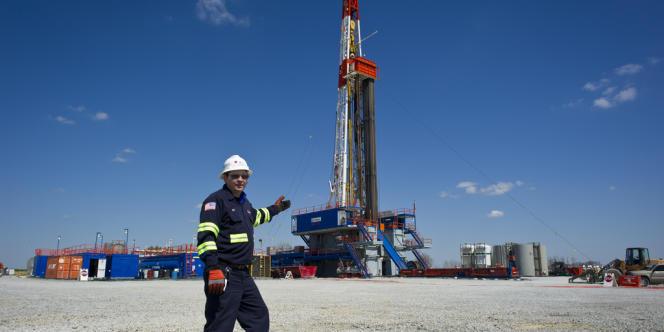 Un site d'extraction de gaz de schiste à Waynesburg (Pennsylvanie), en avril 2012.