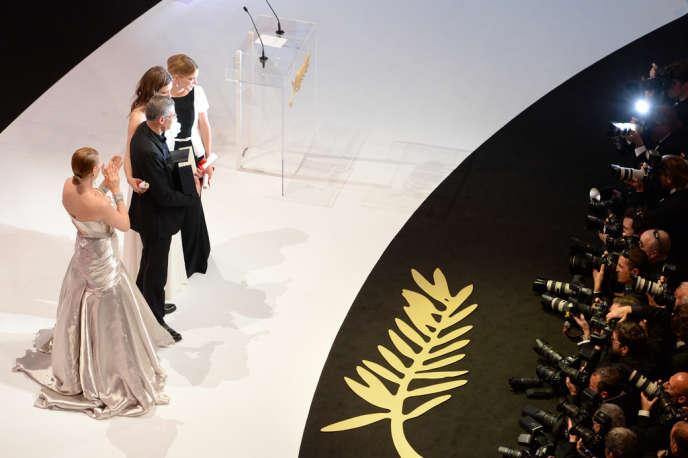 Pour cause d'élections européennes, la cérémonie de clôture (ici celle de l'édition 2013) du 67e Festival de Cannes aura lieu avec un jour d'avance, le samedi 24 mai, au lieu du dimanche 25.