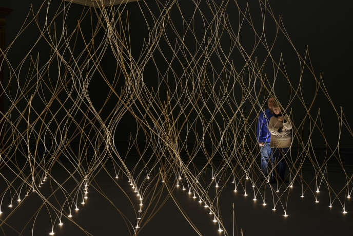 Londres, février 2014. Installation de Kengo Kuma au Royal Academy of Arts.