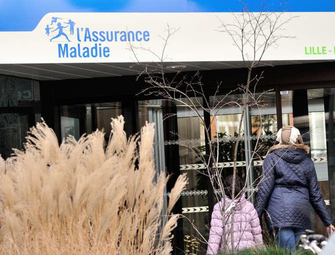 Locaux de l'Assurence-maladie à Lille, en janvier.