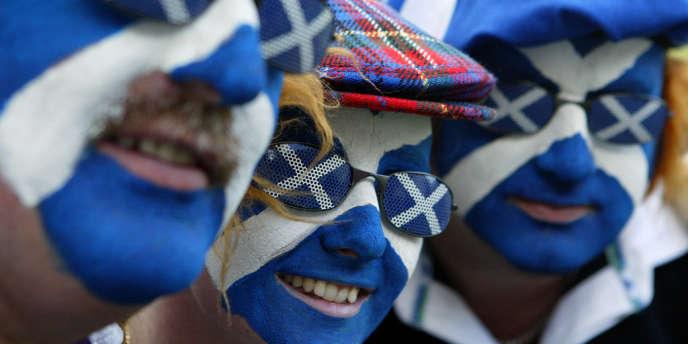 Des supporteurs écossais lors de la Coupe du monde de rugby en 2003.