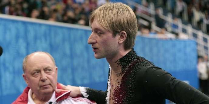 Le Russe Evgueni Plushenko déclare forfait pour le programme court de l'épreuve individuelle, le 13 février.