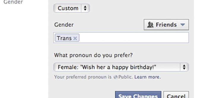 Les nouvelles options de Facebook permettent une plus grande variété de choix pour définir son genre.
