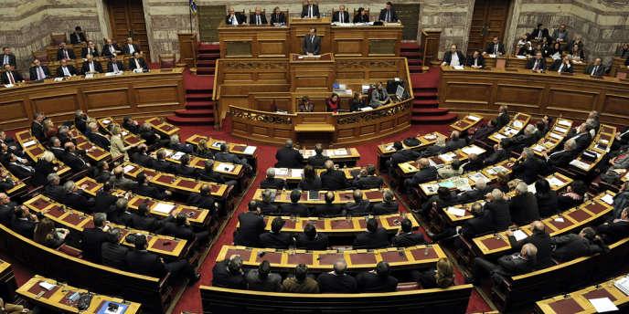 Le Parlement grec en décembre.