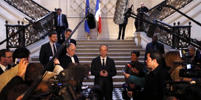Eric Kariger, chef de l'unité de médecine palliative du centre hospitalier de Reims, au Conseil d'Etat, à Paris, le 13 février.