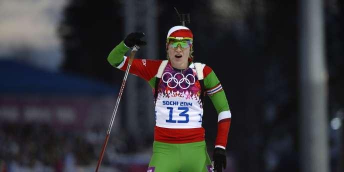 Darya Domracheva est double championne olympique grâce à sa victoire sur le 15km.