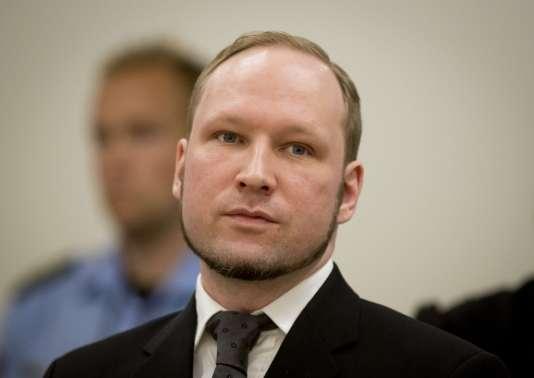 Anders Behring Breivik au tribunal d'Oslo, le 24 août 2012.