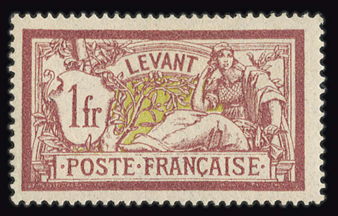 Timbre-poste français du Levant, du temps du mandat français sur cette région.