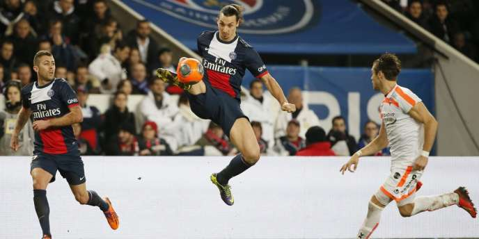 Zlatan Ibrahimovic, le 14 février au Parc des Princes.