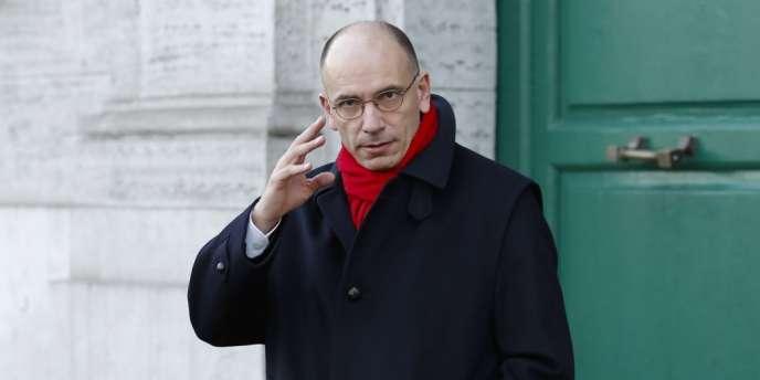 Enrico Letta, le 14 février 2014.