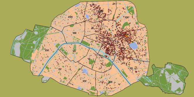 La carte des déportations d'enfants juifs à Paris.