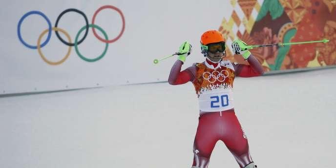 Le Suisse Sandro Viletta a remporté le super-combiné olympique, le 15 février.