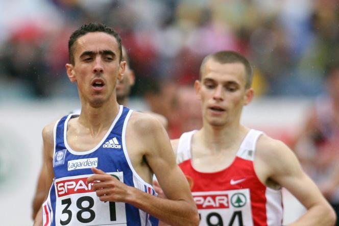 Le Français Khalid Zoubaa aux championnats d'Europe le 10 août 2006.