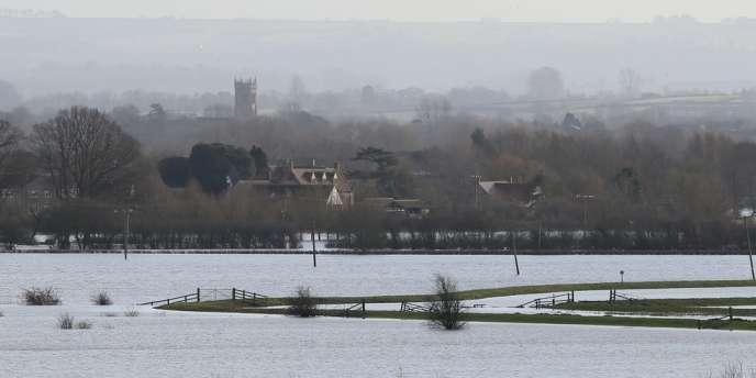Le village de Muchelney (Somerset), le 2 février.
