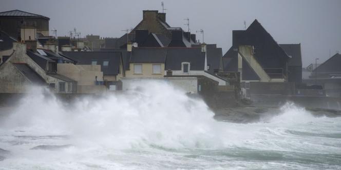 Tempête au Guilvinec, le 14 février.