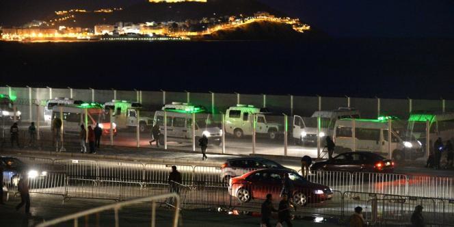 La frontière de Ceuta le 6 février.