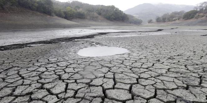 Le lit sec du réservoir Almaden (San Jose, Californie), le 7février.
