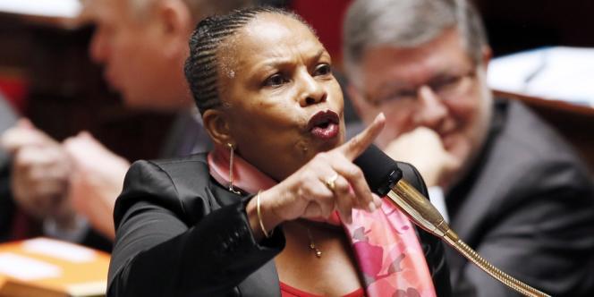 La ministre de la justice, Christiane Taubira, le 5février à l'Assemblée nationale.