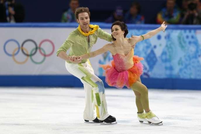 La dernière danse de Fabian Bourzat et Nathalie Péchalat, à Sotchi le 17février.