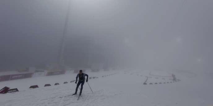 Le brouillard a dû forcer les organisateurs à reporter une nouvelle fois le départ de l'épreuve de mass-start de biathlon, le 17 février.