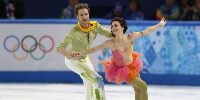 Le couple Péchalat-Bourzat échoue au pied du podium, le 17 février à Sotchi.