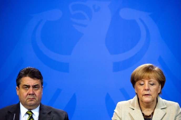 Sigmar Gabriel et Angela Merkel, le 23 janvier, au château de Meseberg, près de Berlin.