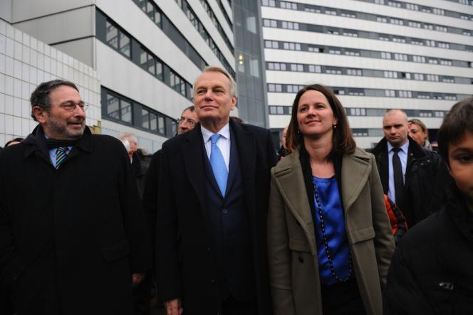 Jean-Marc Ayrault était venu soutenir Johanna Rolland, le 31 janvier dans la banlieue de Nantes.