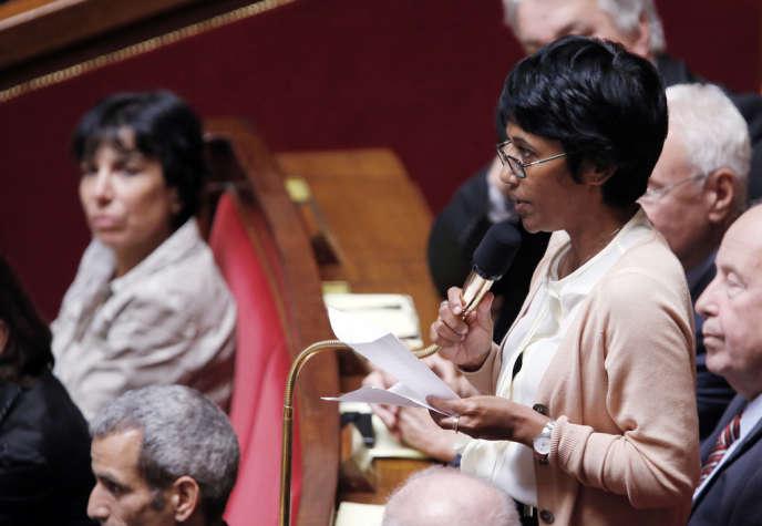 Ericka Bareigts, députée (PS) de la Réunion, à l'Assemblée en juillet 2012.