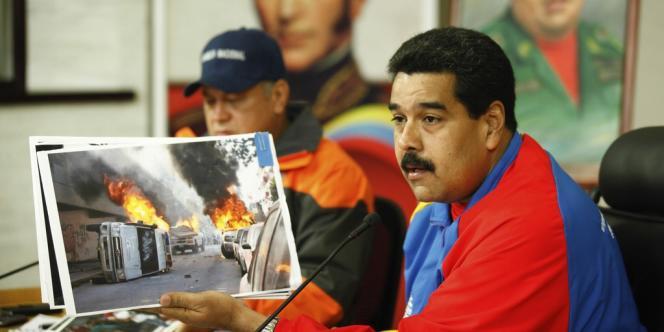 Le président vénézuélien, Nicolas Maduro, accuse les manifestants d'être responsables des violences qui ont conduit à la mort de trois personnes, le 12 février.