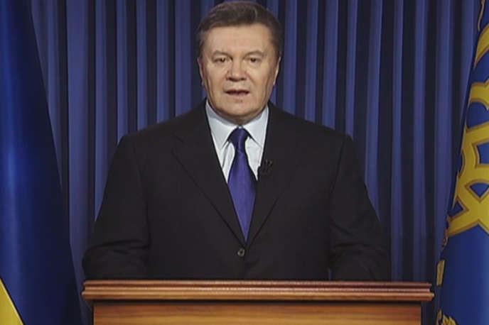 Le président ukrainien Viktor Ianoukovitch, mercredi 19 février 2014.