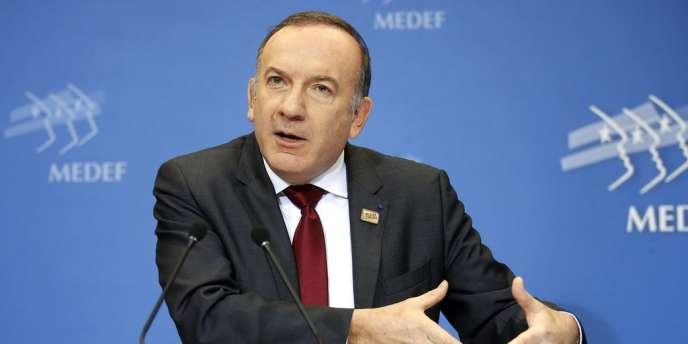 Le patron du Medef, Pierre Gattaz, à Paris, le 18 février.