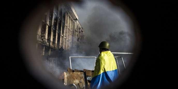 L'Ukraine est la principale cible du virus Snake, notamment depuis l'accélération de la crise politique — ici, la place de l'Indépendance à Kiev, le 19 février.