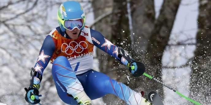 L'Américain Ted Ligety durant la première manche du slalom géant, le 19 février.