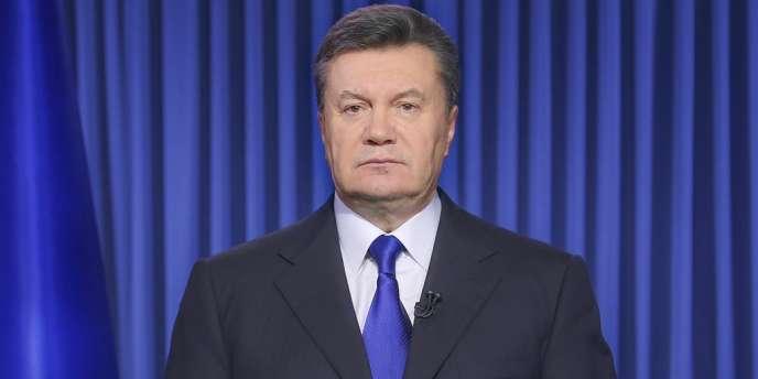 Le président ukrainien Viktor Ianoukovitch le 19 février.