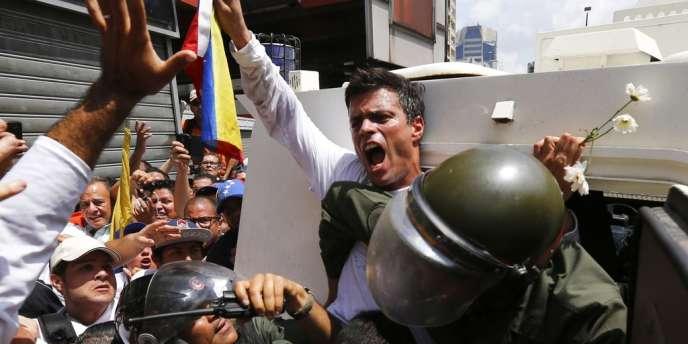 Leopoldo Lopez, à Caracas, le 18 février. JORGE SILVA/REUTERS