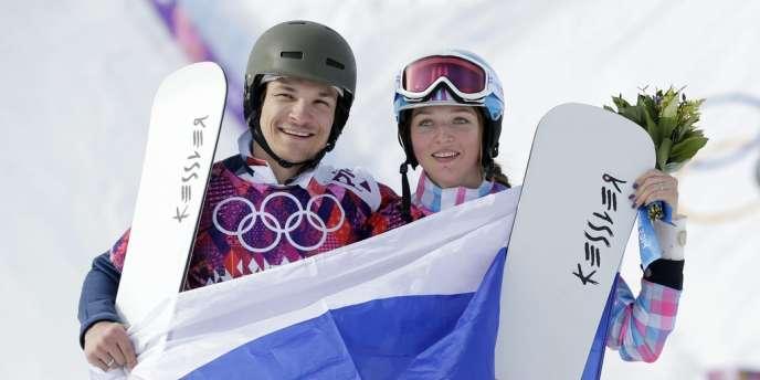 Vic Wild et Alena Zavarina ont remporté chacun une médaille en snowboard, slalom géant parallèle — ici le 19 février.