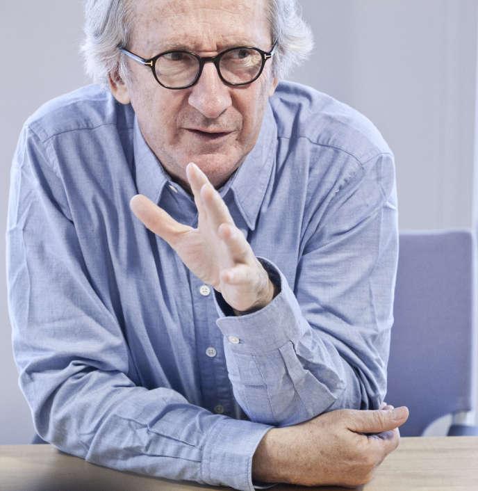 Franck Riboud, PDG de Danone,le 18 février, au siège du groupe.