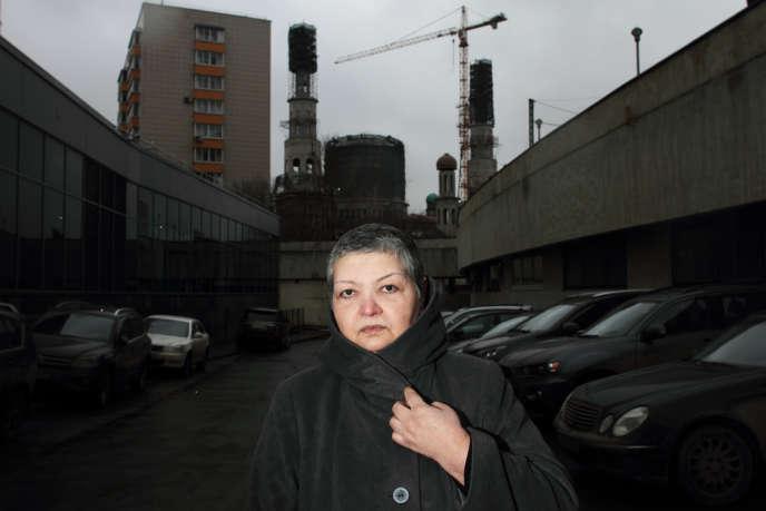 Gavkhar Djouraïeva, responsable d'une organisation de défense des migrants, le 17 février, à Moscou.