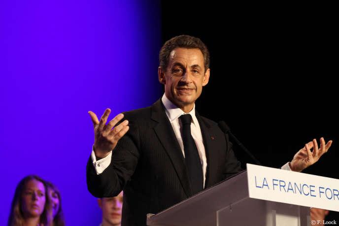 Nicolas Sarkozy, au Raincy, en avril 2012.