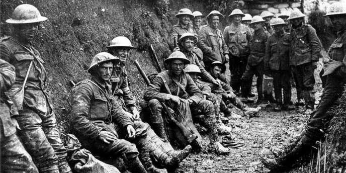 Soldats britanniques pendant la première guerre mondiale.