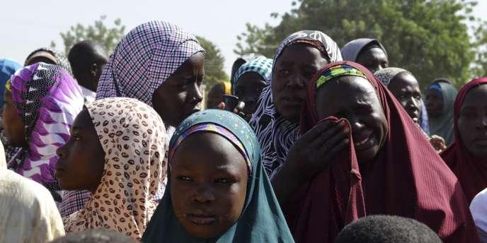 Des femmes de la région de Borno, déplacées par l'insurrection de Boko Haram au Nigeria.