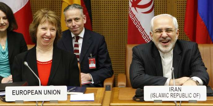 Catherine Ashton (chef de la diplomatie européenne) et Mohammad Javad Zarif (ministre des affaires étrangères iranien) le 20 février à Vienne.