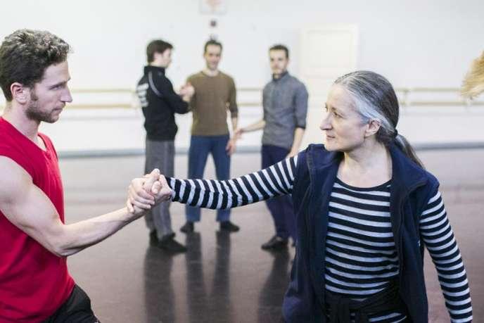 Ana Laguna et le danseur Jesse Bechard répètent