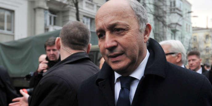 Le ministre des affaires étrangères français, Laurent Fabius, à Kiev, le 20 février 2014.